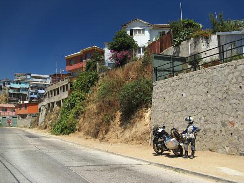 Jõudmine Valparaisosse