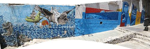 Lahedalt sürrid seinamaalingud (panoraam)