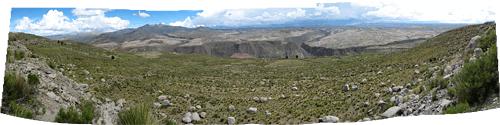 Cordilleras de los Frailes - vaade kõrgelt alla orgudele