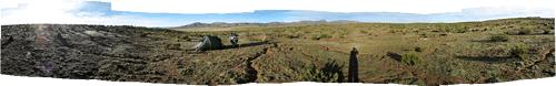 Telkimine 4200m peal, Cordilleras de los Frailese päikesetõus