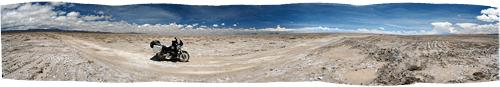 Maastik Salar de Uyuni soolajärve lähistelt