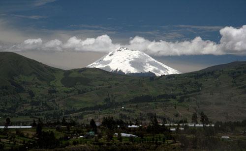 Peaks olema Tungurahua vulkaan (klikka, et suurendada)