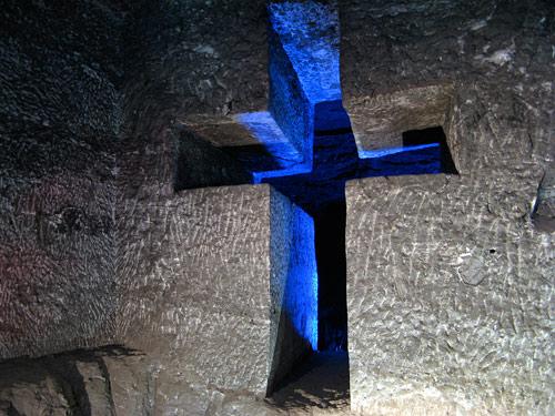 Zipaquirá soolakatedraal (7) - seina läbimõõt oli umbes 3 meetrit