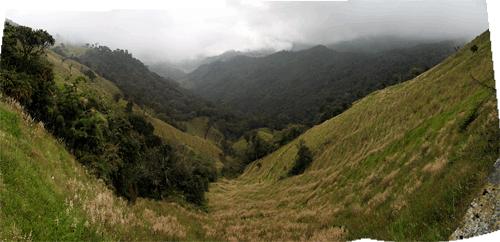 Kolumbia tüüpiline maastik Andides