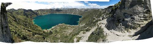 Ecuadori maastikud (4) - Quilotoa, järv otse kraatris