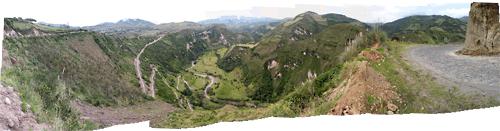 Ecuadori maastikud (5) - sinka vonka teed järsakutel