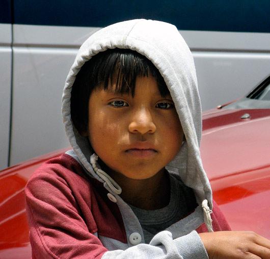 San Cristobali põliselanikust poiss