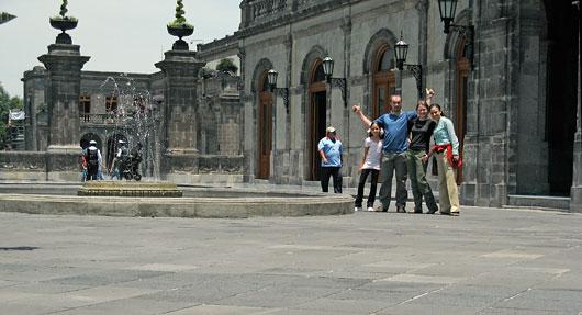 Mehhiko sõpradega Chapultepec-is