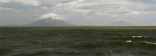 Ometepe saarte kaks vulkaani