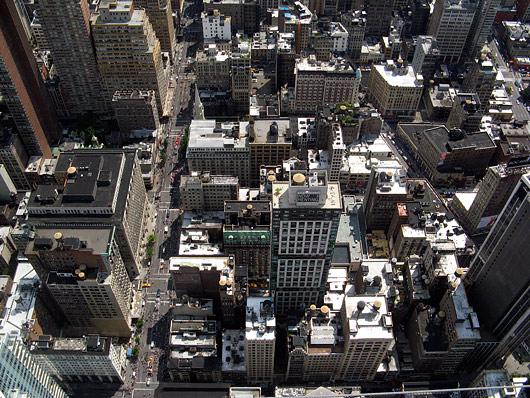 New York nähtuna kõrgustest (Empire State Building'u otsast)