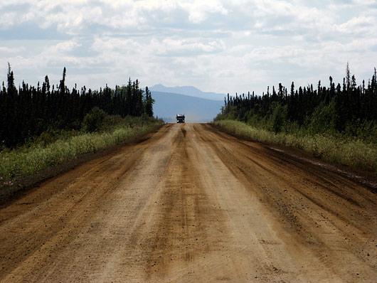 Dalton Highway tüüpilised kruusa-muda osad