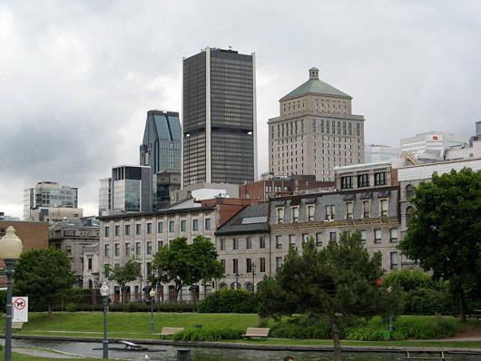 Montréali kesklinn - vähesed kõrghooned