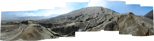 Bromo (3) - tossava kraatri jalamilt