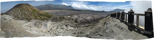 Bromo (5) - ümbritseva panoraam kraatri servalt - kõrval Batok