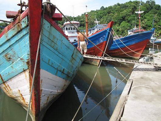 Paadid Padangi sadamas