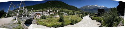 Ushguli küla panoraam