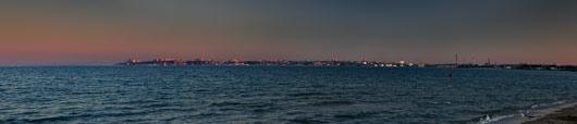 Odessa kesklinn eemalt paistmas
